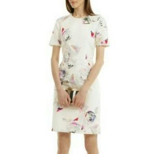 PAUL SMITH Graphic Rose Short Sleeve Sheath Dress